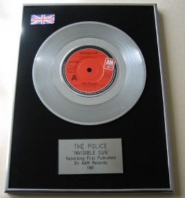 POLICE - INVISIBLE SUN Platinum single presentation diSC